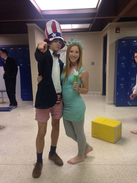 Lady liberty and Uncle Sam couple costume | Halloween | Pinterest ...