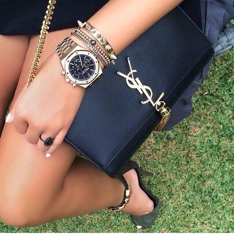 Audemars Piguet Lady Royal Oak Chronograph & YSL