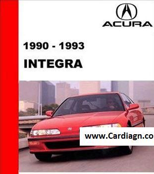 Acura Integra 1990 1993 Service Repair Manual Pdf Acura Integra Acura Repair Manuals