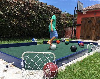 Soccerpool Game Black Grey 16 Balls Included Snookball Soccer Pool Billiards In 2020 Backyard Sports Outdoor Pool Table Kids Backyard Playground