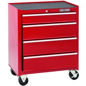 Craftsman 12728 Professional Use 26 Wide 4 Drawer Basic Top Chest Platinum Black In 2020 Craftsman Tools Chest Drawers Craftsman Tools