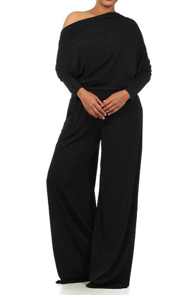 Black Pants Suit Women S Plus Size