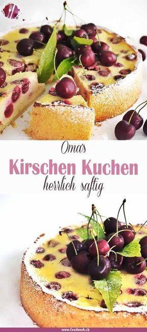 Grossmutters Kirschkuchen Mit Quark Kuchen Rezepte Mit Quark Kirschkuchen Lecker