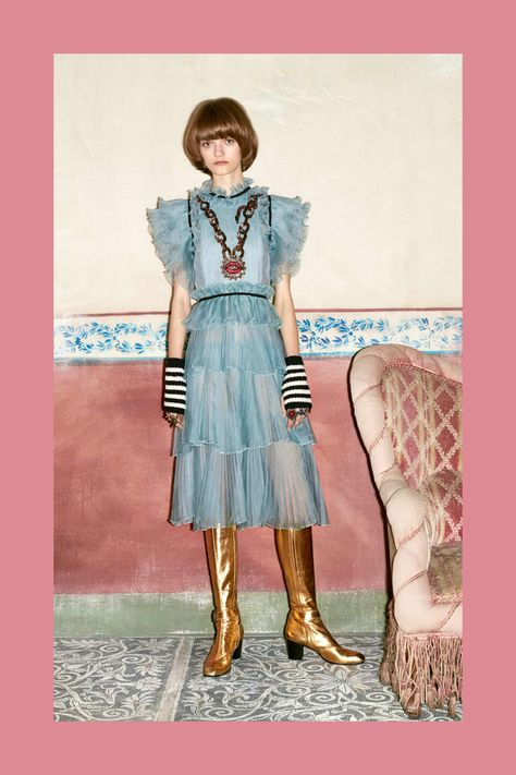 Gucci Pre-Fall 16 - That Necklace!  The Boots!