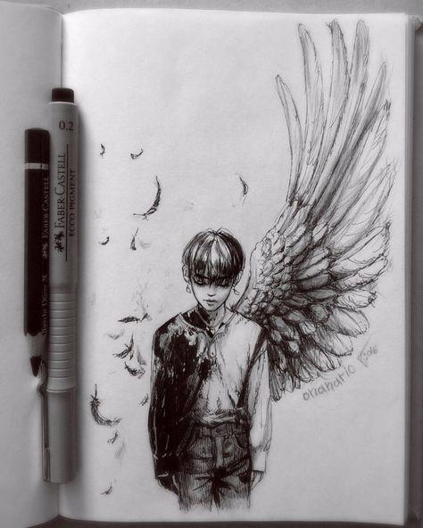 😶 #sketch #doodle #pen #traditionalart #mangaart #kpop