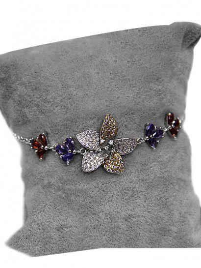 انسيال فضة عيار 925 انسيال فضة ايطالى ورد ملون Brooch Jewelry Fashion