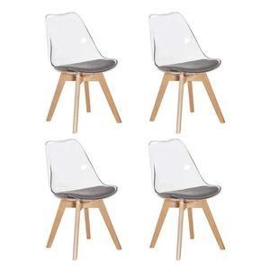 Chaises Tissu | Salle à manger rotin, Chaise transparente et