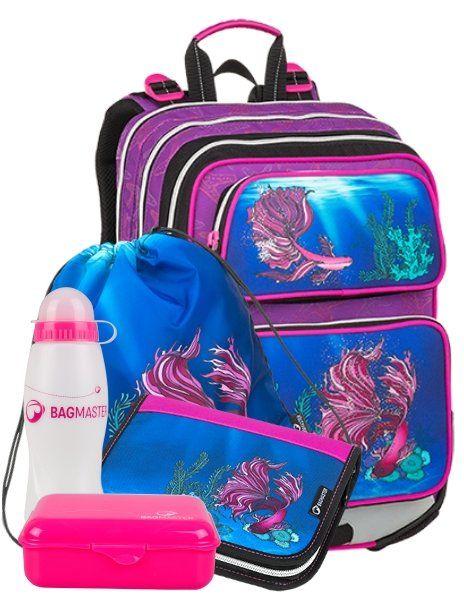 4cfc871ef BAGMASTER Školský batoh GALAXY 9 C (5-dielny set)   Školské tašky pre  dievčatá   Tašky, Pre dievčatá a Galaxie