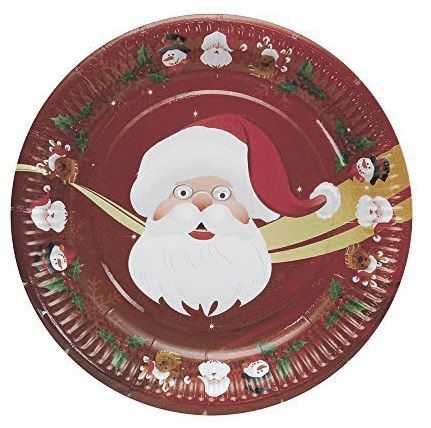Platos Desechables Decorados Con Papa Noel Perfectos Para Estas