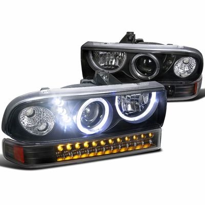 98 04 Chevy S10 Pickup Blazer Angel Eye Halo Led Projector