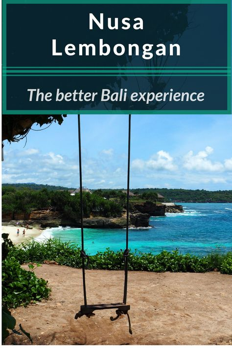 Sick of the crowded dirty beaches in Bali? Nusa Lembongan has fewer people, better beaches, great snorkeling sites, and it is right next to Bali, Indonesia. #indonesia #bali #nusaisland #nusalembongan #island