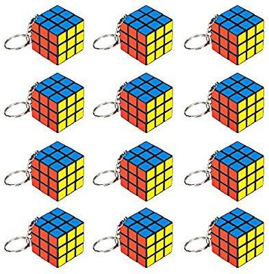Amazon Com 12 Piece Party Pack Of Mini 1 25 Puzzle Cube Keychains By Pudgy Pedro S Party Supplies Toys Games Cube Puzzle Mini Puzzle Rubix Cube Games
