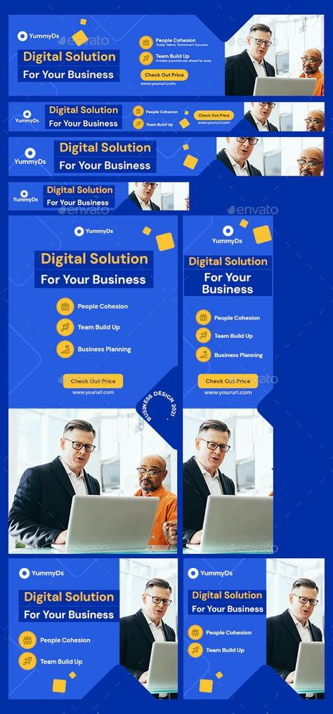 Animated Business Web Banners Template