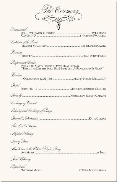 Catholic Full Mass Wedding Program | Wedding Ideas | Pinterest ...