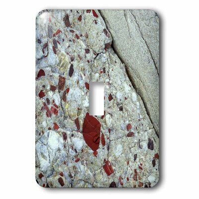 3drose Pudding Stone Jasper Quartz Rock Mineral 1 Gang Toggle Light Switch Wall Plate Plates On Wall 3drose Light Switch Covers