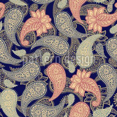Magische Nacht Paisleys Umfarbbarer Baumwollstoff Viskose O Baumwoll Jersey Designt Von Ilona Repkina Www Stoff Love Stoffmuster Baumwollstoff Bedrucken