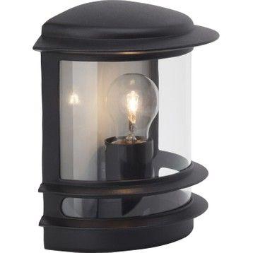 Demi Applique Exterieure Hollywood E27 60 W Noir Brilliant Plafonnier Exterieur Lampe Exterieur Luminaire