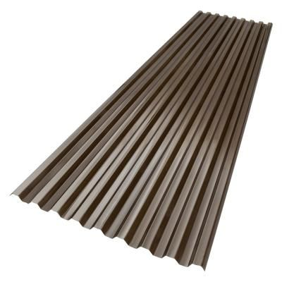 Suntuf 6 Ft X 26 In Polycarbonate Roof Panel In Bronze 180075 The Home Depot In 2020 Polycarbonate Roof Panels Roof Panels Fibreglass Roof