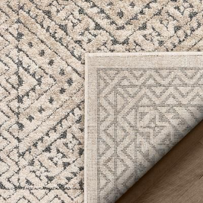 Malaga Lyre Tribal Mosaic Tile Work Beige Distressed High Low Area Rug Mg 192 Well Woven In 2020 Mosaic Tiles Tile Work Area Rugs
