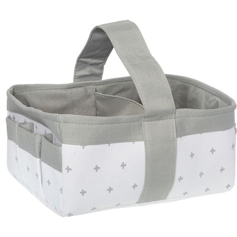 f4afc559ae3c Grey & White Cross Pattern Nappy Basket 38x26x18cm - Baby & Nursery - Kids  & Toys - TK Maxx