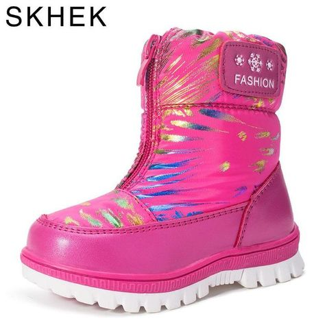 230418f0c6dcb1 Winterstiefel Mode Zip Kinder Schuhe Kinder Warme Stiefel mit Samt  Chaussure Mädchen Schuhe Princess Boots Footwear 2018. Gest…