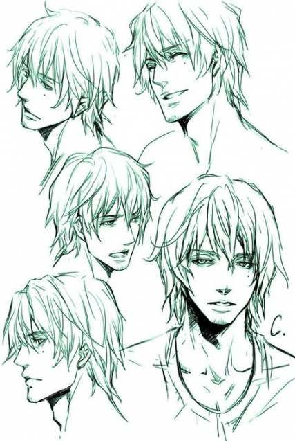 35 Super Ideas For How To Draw Manga Hair Male Manga Hair Guy Drawing Male Face Drawing