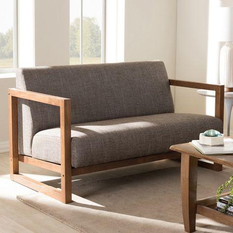 Baxton Studio Valencia Loveseat | Love seat, Furniture, Mid