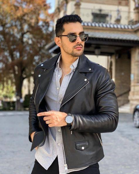 "Mario Cyrus (@mariolcyrus) posted on Instagram: ""Magno Scavo @magno_scavo #leatherjacket #leathermen #magnoscavo #blackleatherjacket #jacket #blackjacket #mensleatherjacket #instacool…"" • Feb 23, 2021 at 5:52pm UTC"