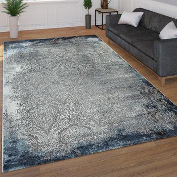 Kurzflor Teppich Mit Orient Muster In Blau Teppich Grosse Teppiche Teppich Design