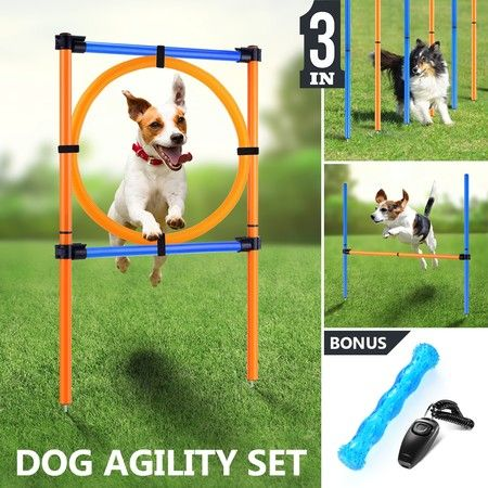 Outdoor Dog Training Weave Poles Portable Pet Games Agility