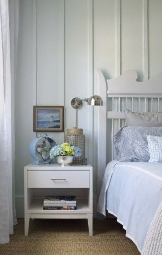 Board and Batten behind bed Master Bedroom Remodel Pinterest