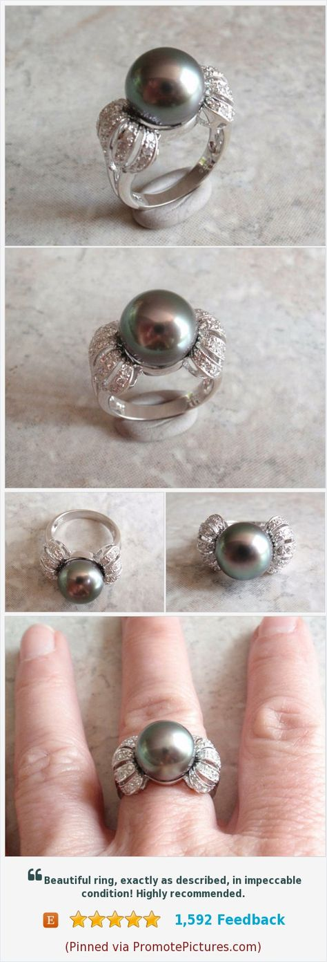 vintage Black Pearl Ring Size 6.5...