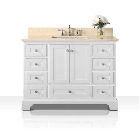 Ancerre Designs Audrey Vanity Set With Galala Beige Marble Top