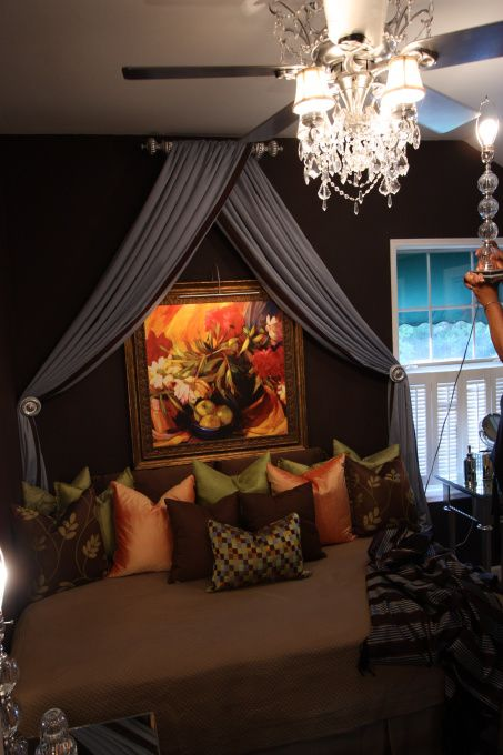 I d be happy to stay in this guest house bedroom  Love what she did with  the ceiling fan  HGTV Rate My Space by Babe on a budget   Pinterest   Guest  houses. I d be happy to stay in this guest house bedroom  Love what she