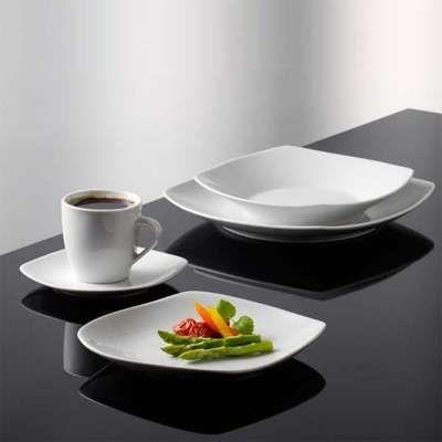 Bistro Square Wh 4stk Teller 22cm Lunch Geschirrset Geschirr