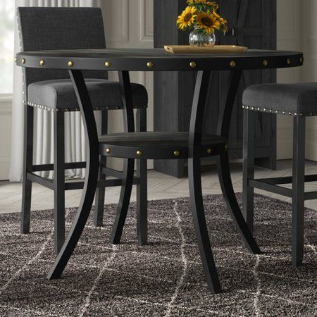 Greyleigh Crooke Round Wood Counter Height Dining Table