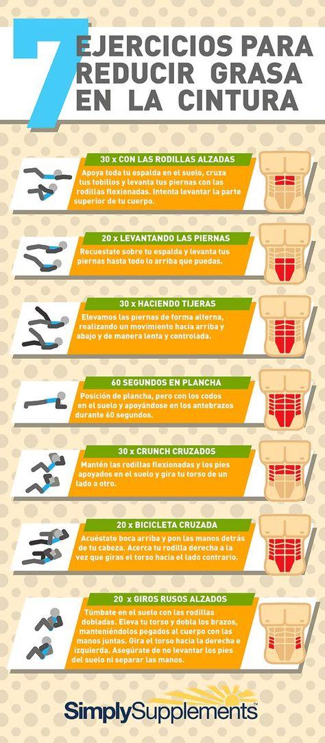 7 ejercicios para reducir grasa en la cintura.