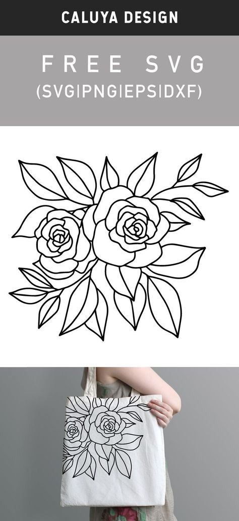 Diy Embroidery Projects, Hand Embroidery Patterns Free, Embroidery Flowers Pattern, Embroidery For Beginners, Embroidery Hoop Art, Flower Svg, Freebies, Flower Tutorial, Vinyl Decals