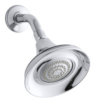 Kohler Forte 1 75 Gpm Multifunction Wall Mount Shower Head With Masterclean Spray Nozzle Finish Polished Chrome Shower Heads Kohler Forte Polished Chrome