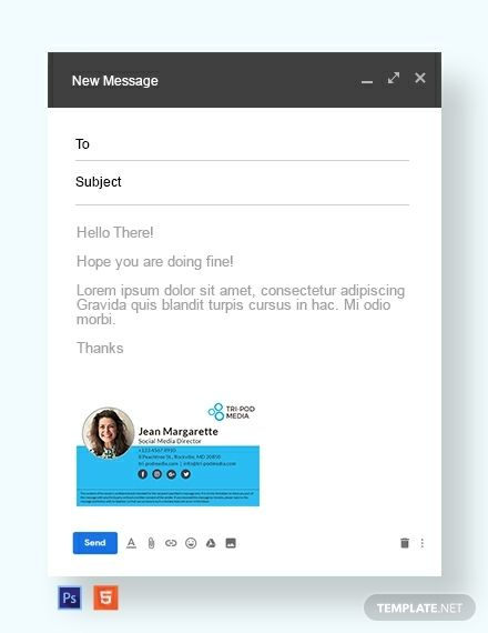 Social Media Email Signature | bloging tips and what code