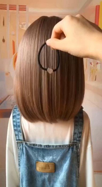 Super Easy Hairstyles For Short Hair For School Ideas In 2020 Hair Styles Hair Braid Videos Long Hair Video