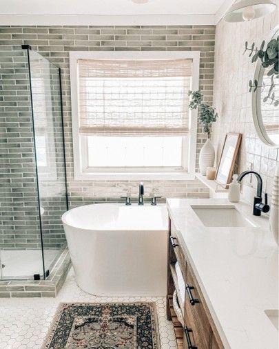 Home Renovation Diy Ideas Bathroom Upgrade Home Decor Idea Master Bathroom Idea Bathroom Ti In 2020 Master Bathroom Makeover Bathroom Makeover Bathroom Renovation