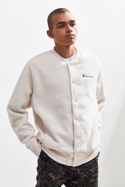 Champion Baseball Sherpa Sweatshirt Urban Outfitters Sherpa Jacket Jackets Athletic Apparel
