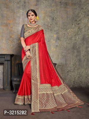 Indian Pakistani Wedding Party Wear Banarasi Cotton Poly Maroon Silk Sari saree