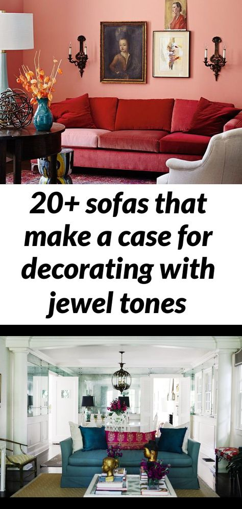 20+ sofas that make a case for decorating with jewel tones