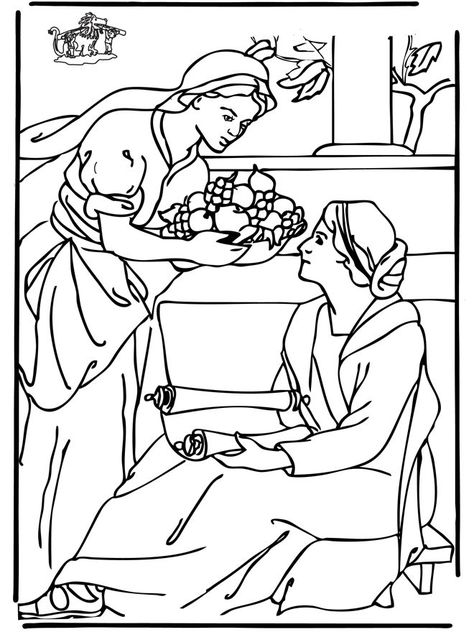 Image result for Bible coloring pages Mary and Martha ...