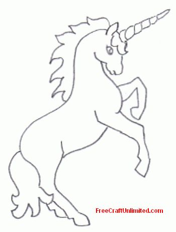 picture relating to Free Printable Unicorn Template known as cost-free unique art unicorn rearing template Birthdays