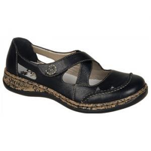 Rieker 608R4 Ladies Open Toe Touch Fastening Mule Sandal
