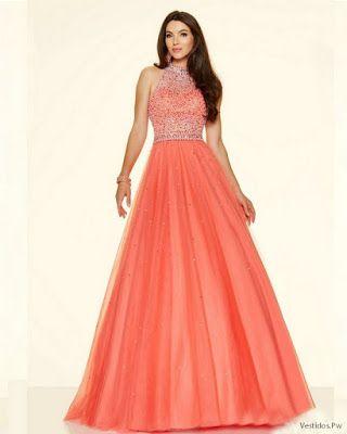 Vestidos Largos Color Coral Vestidos De Mi Promocion In
