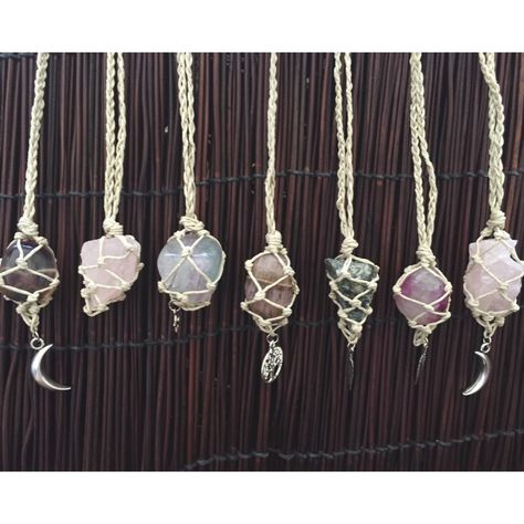 jewelry Boho Lei by boholei - Crystal wrapped in macrame necklace from Wishing Star Jewe. - Boho Lei by boholei Crystal wrapped in macrame necklace from Wishing Star Jewelry on etsy! Macrame Necklace, Macrame Jewelry, Diy Necklace, Crystal Jewelry, Wire Jewelry, Boho Jewelry, Jewelry Crafts, Jewelery, Handmade Jewelry